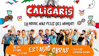 Caligaris en el Estadio Obras